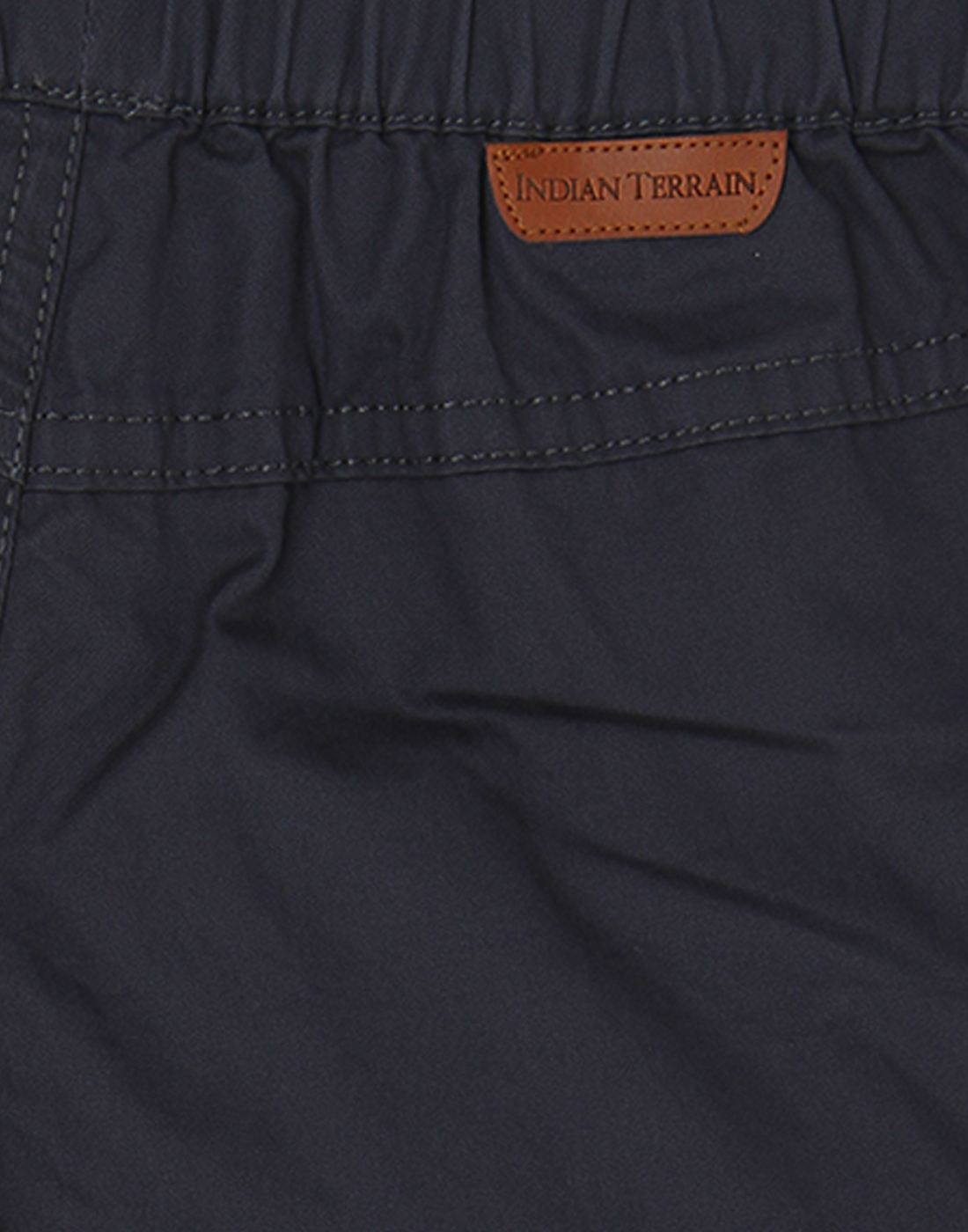 Indian Terrain Boys Grey Solid Trouser