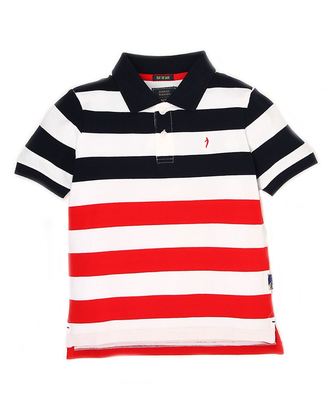 Indian Terrain Boys Blue Striped T-Shirt