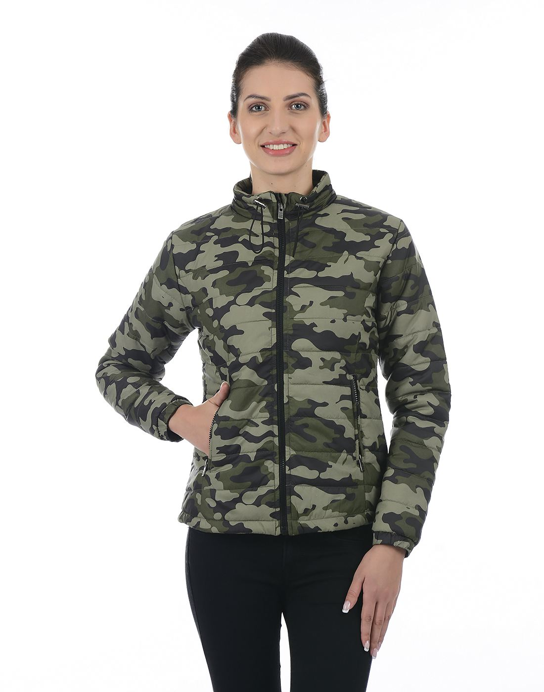 Pepe Jeans Women Utility or Military Inspired Jacket