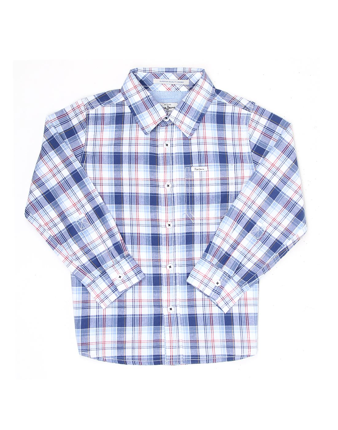 Pepe Jeans Boys Checkered Casual Shirt