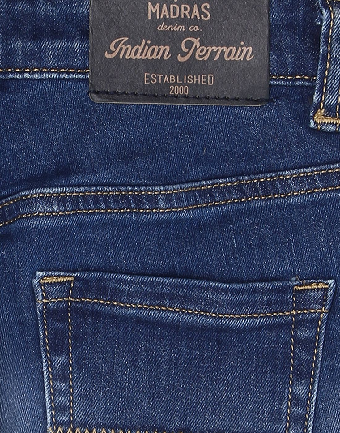 Indian Terrain Boys Blue Casual Shorts