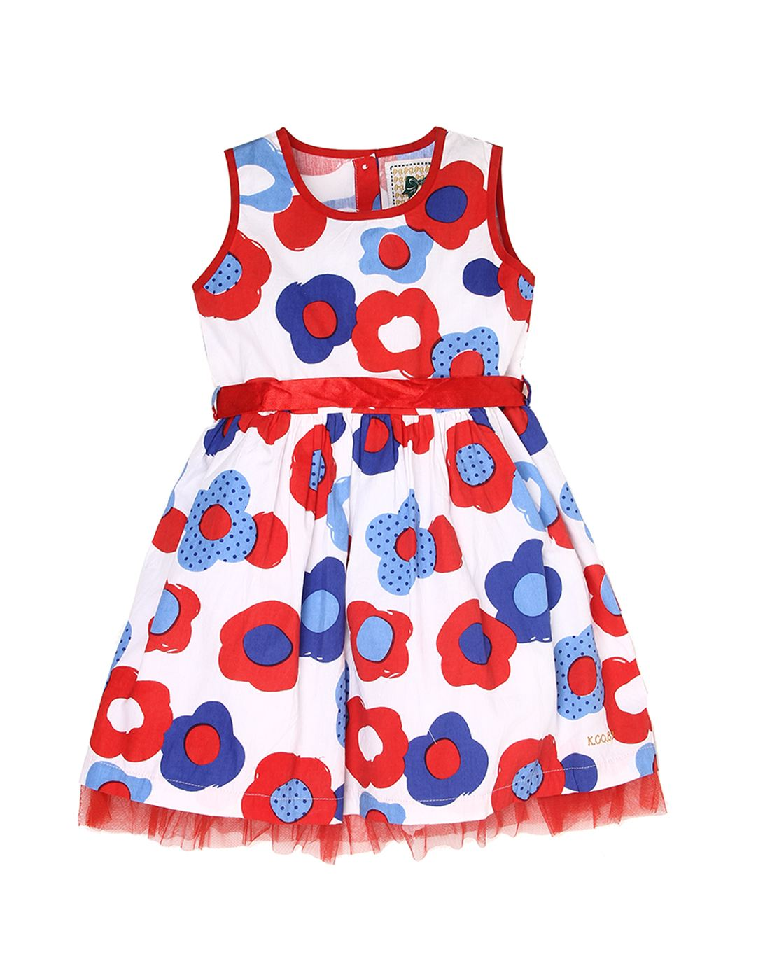 K.C.O 89 Girls Casual Printed Sleeveless Frock