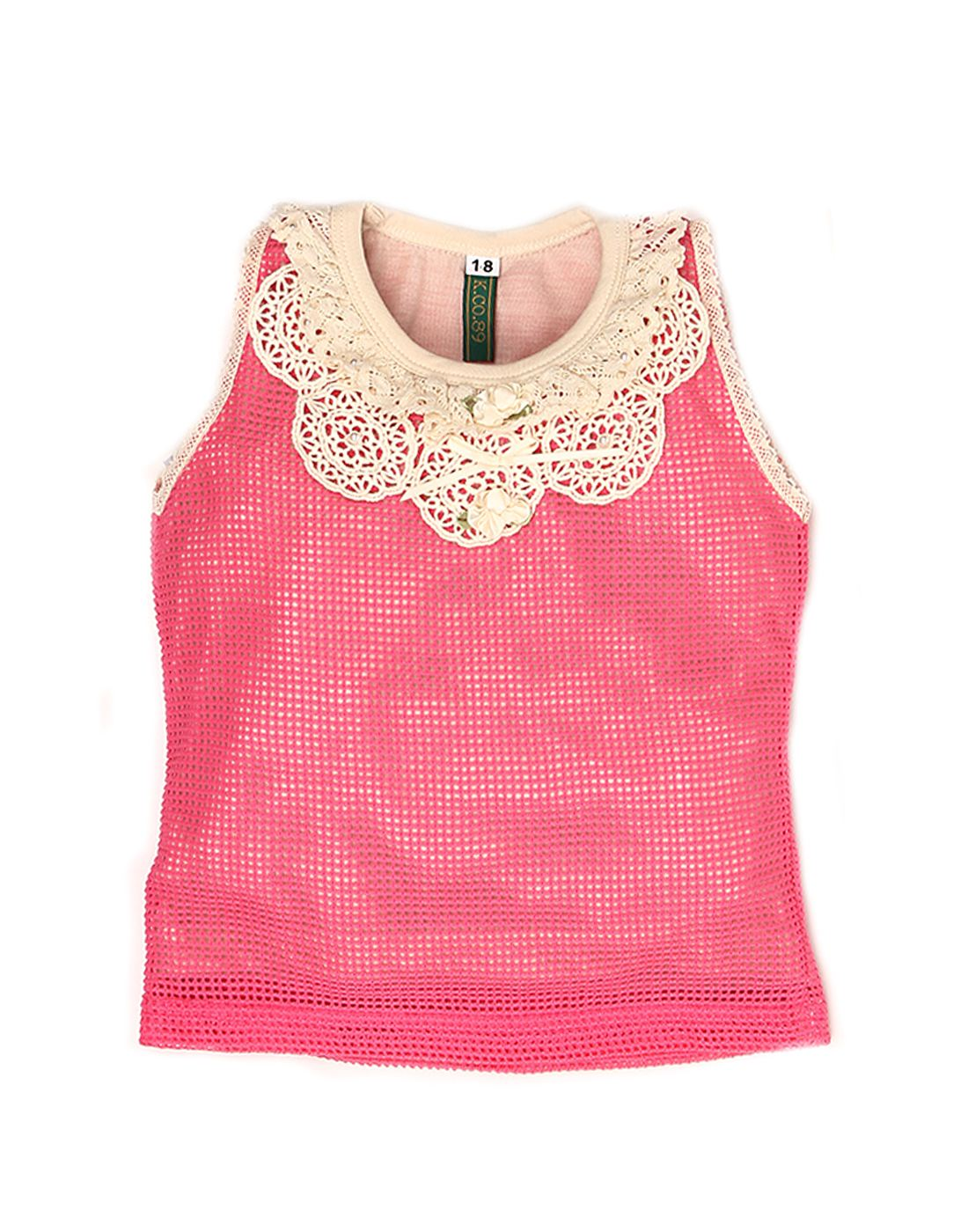 K.C.O 89 Girls Party Wear Solid Sleeveless Top
