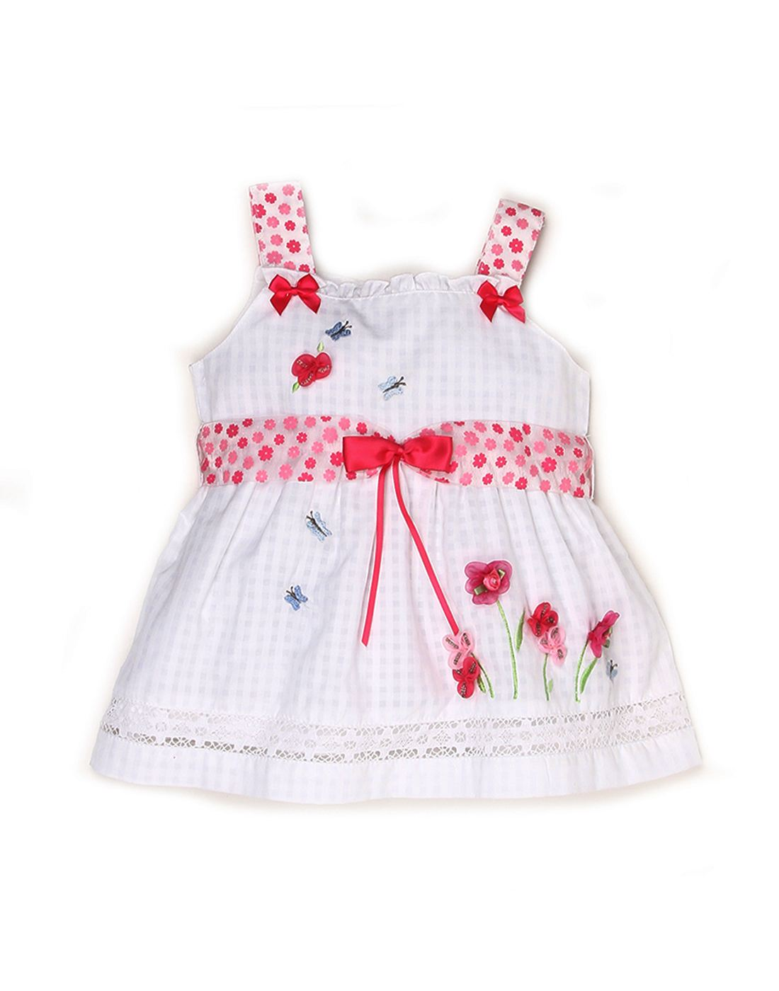 K.C.O 89 Baby Girls Casual Applique Sleeveless Frock