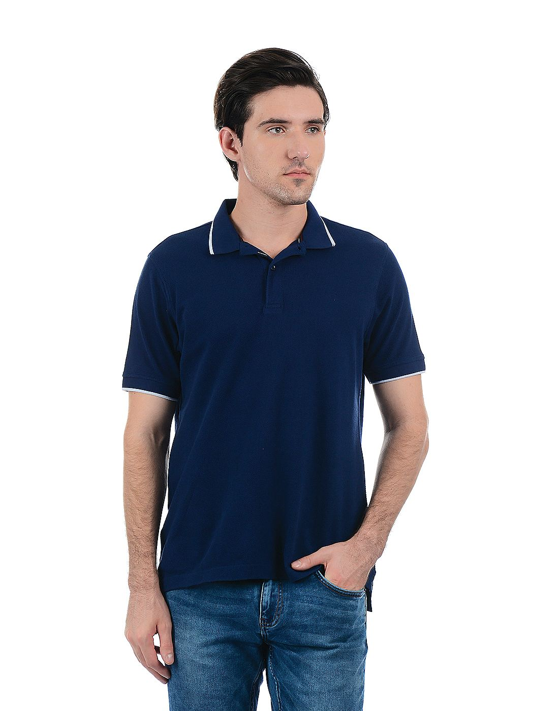 London Fog Men Dark Blue Shirt