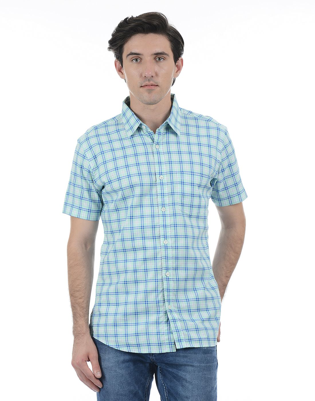 London Fog Men Green Shirt