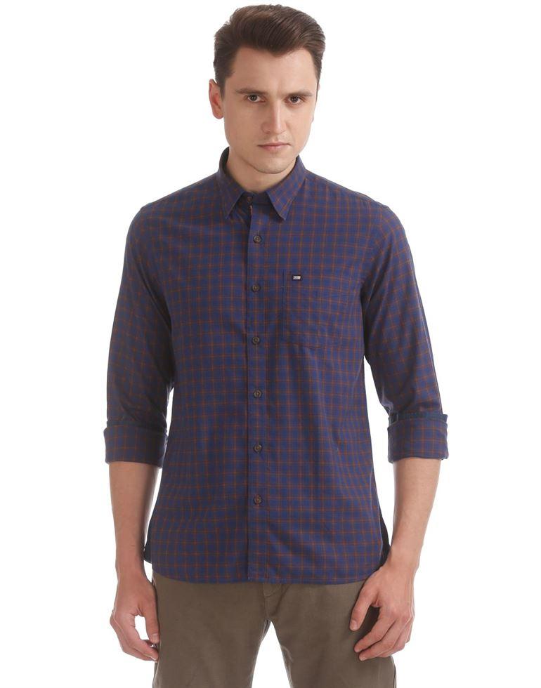 Arrow Sports Men Checkered Casual Wear Shirt