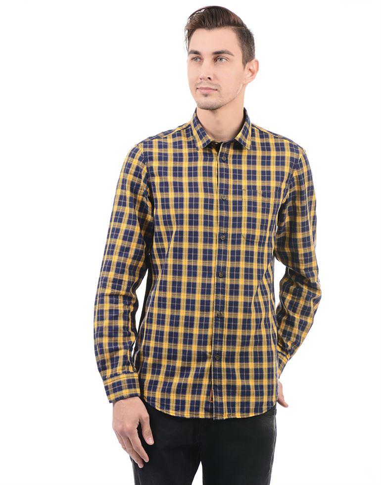 Arrow Jeans Men Checkered Casual Wear Shirt