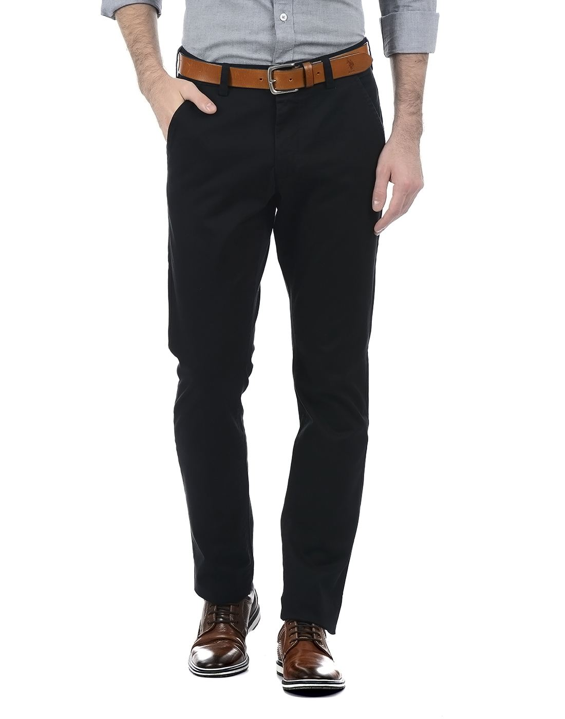 French Connection Men Black Trouser