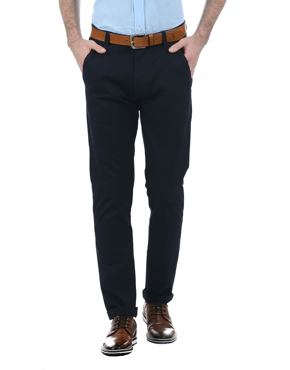 French Connection Men Dark Blue Trouser