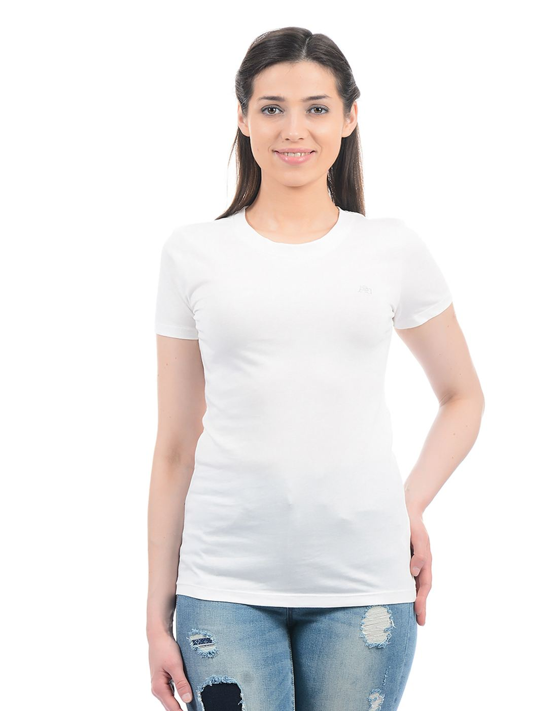 Aeropostale Women Casual Wear Solid T-Shirt