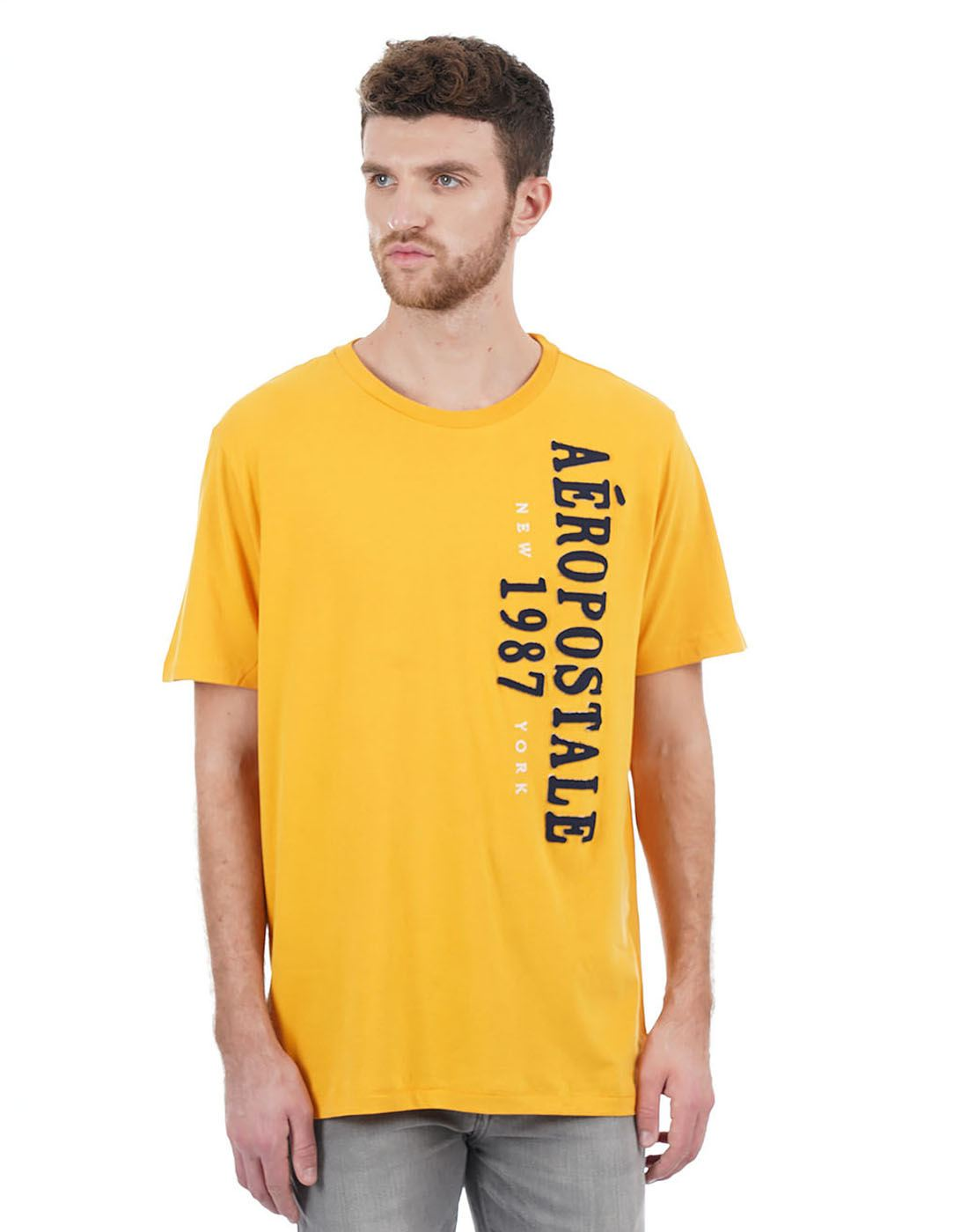 Aeropostale Men Yellow T-Shirt