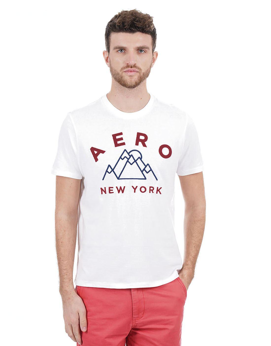 Aeropostale Men White T-Shirt