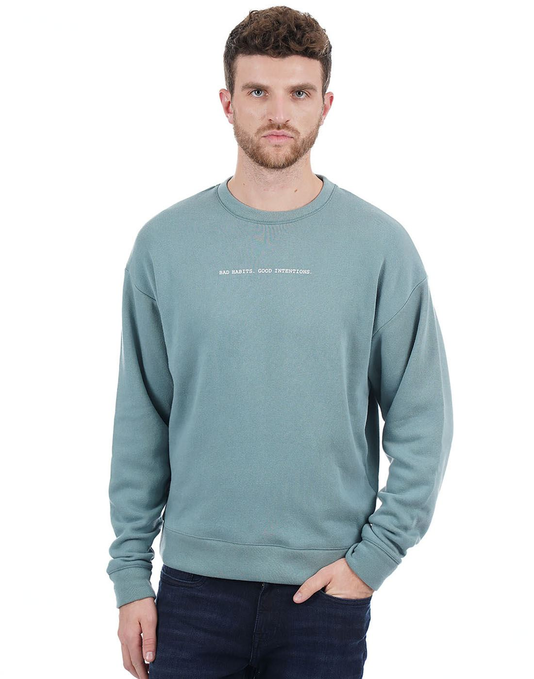 Aeropostale Men Green Sweat Shirt