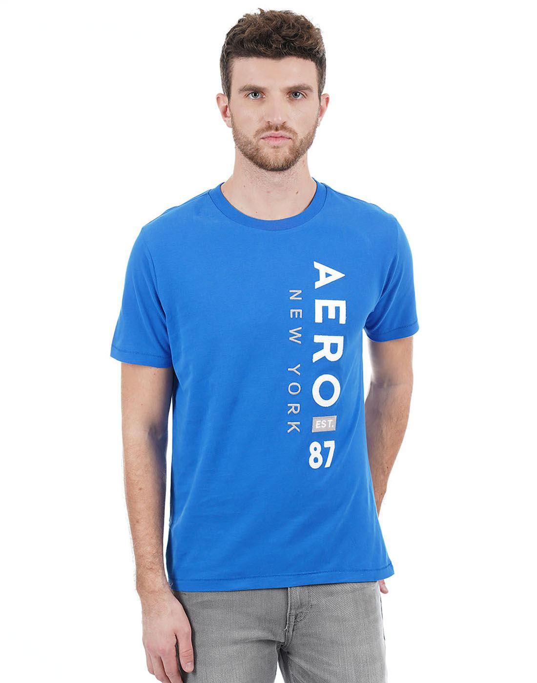 Aeropostale Men Blue T-Shirt