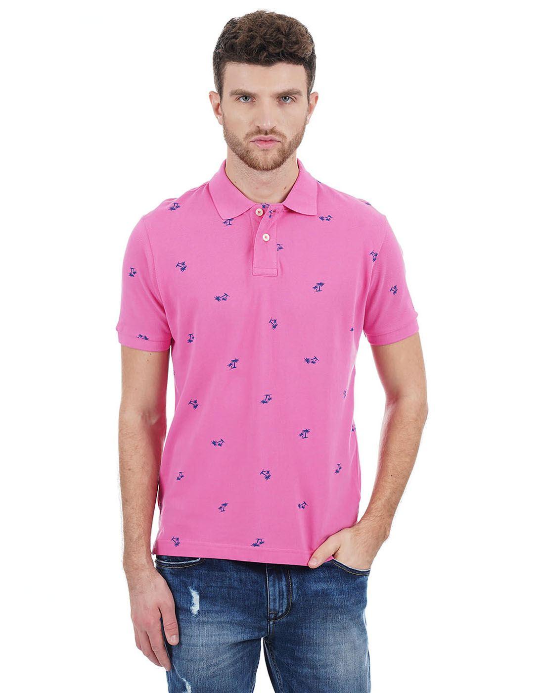Aeropostale Men Pink T-Shirt