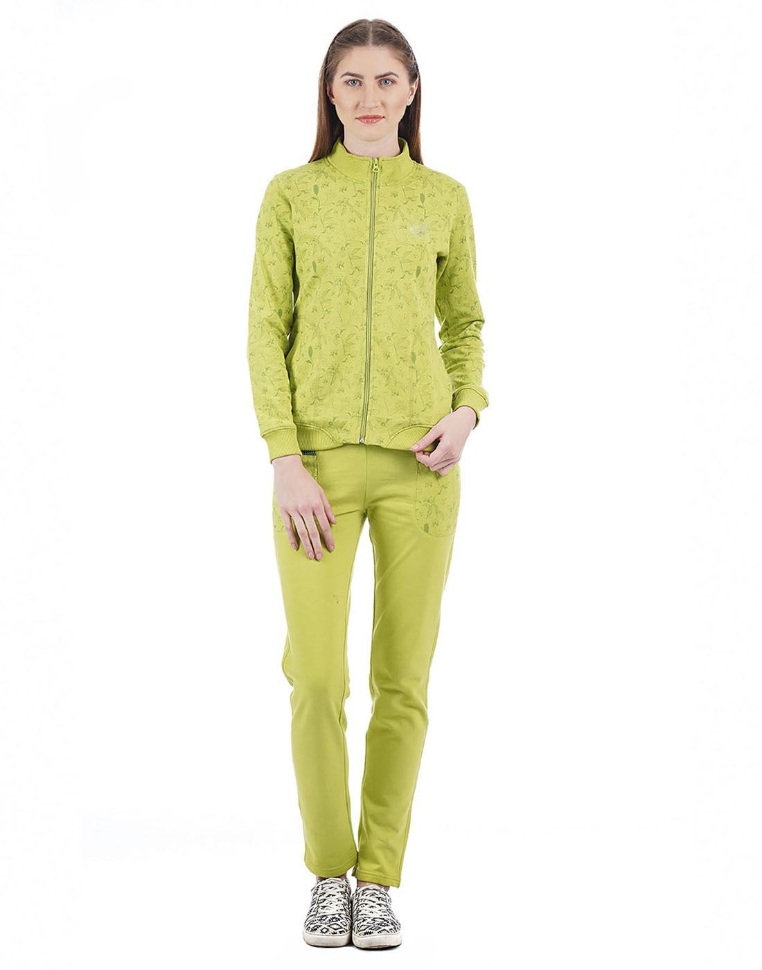 Cloak & Decker Women Green Tracksuit