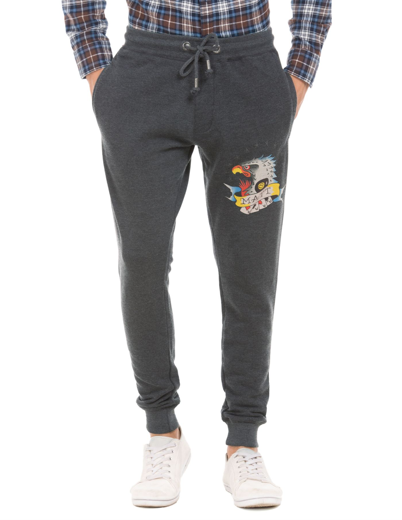 Ed Hardy Men Black Track Pant