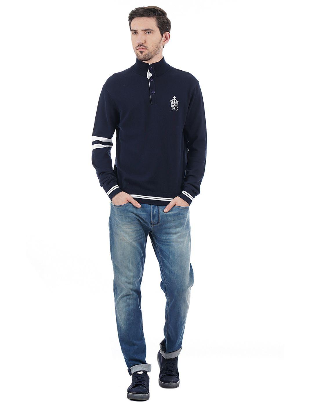 French Connection Men Blue Sweatshirt