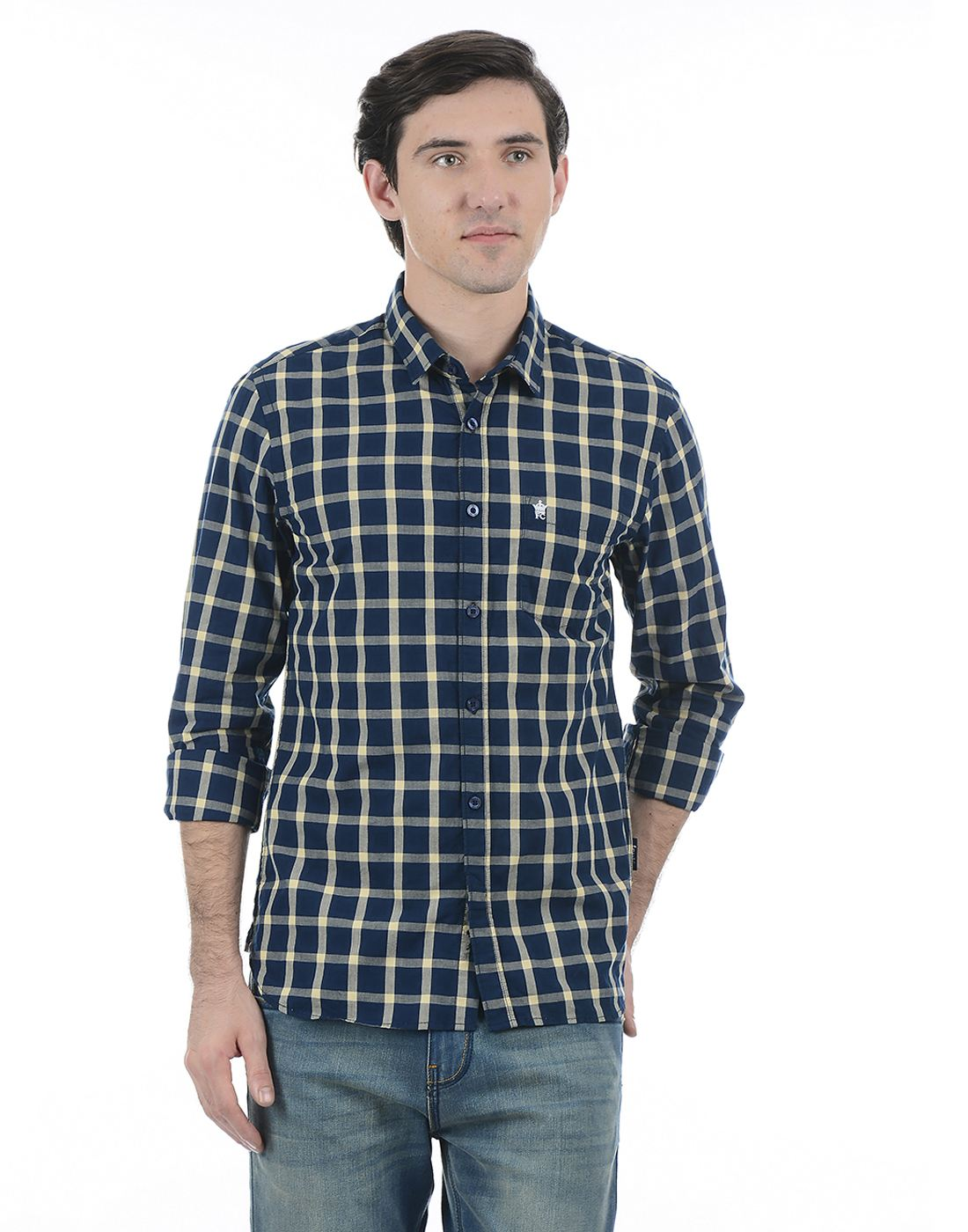 French Connection Men Blue Full Sleeves Shirt