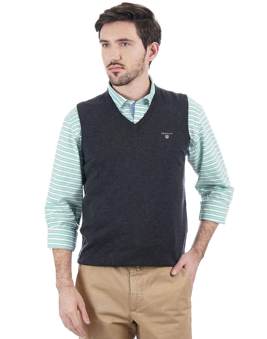 Gant Men Dark Grey Pullover