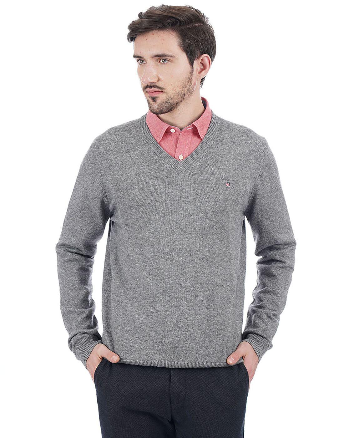 Gant Men Grey Pullover