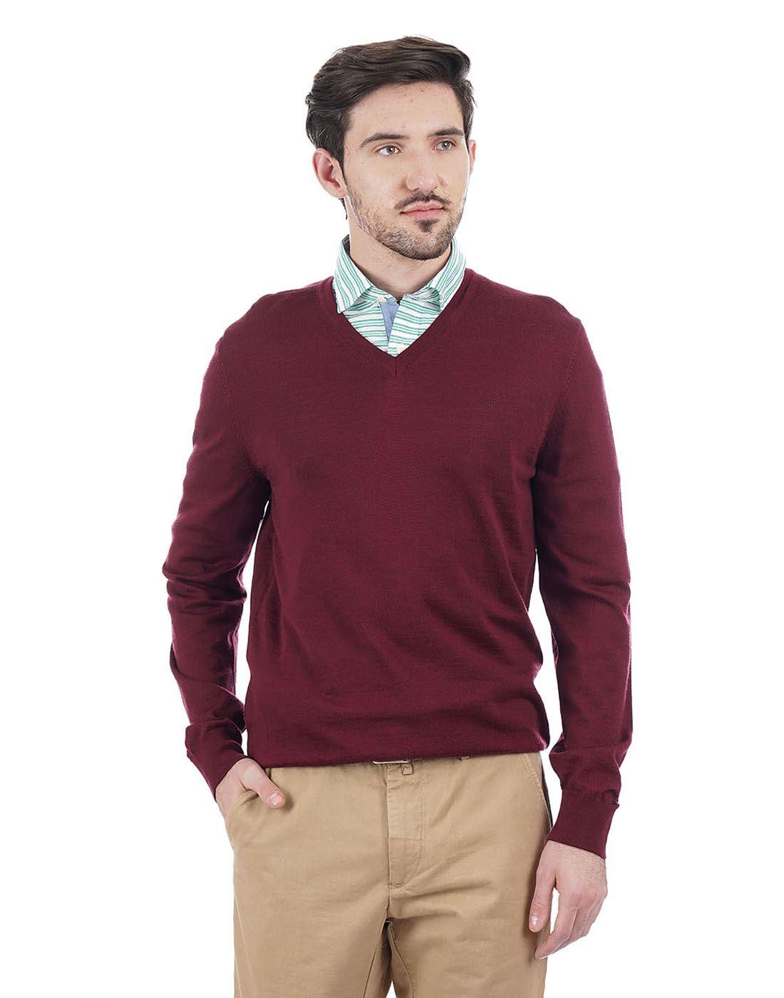 Gant Men Maroon Pullover