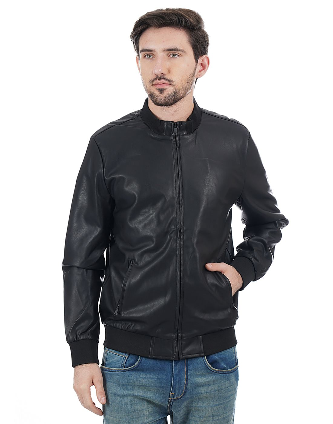 Indian Terrain Men Black Jacket
