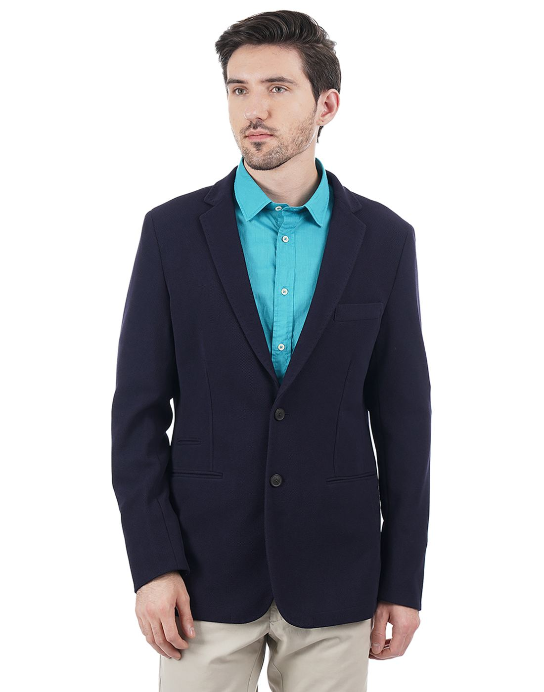 Indian Terrain Men Single Breasted Blazer