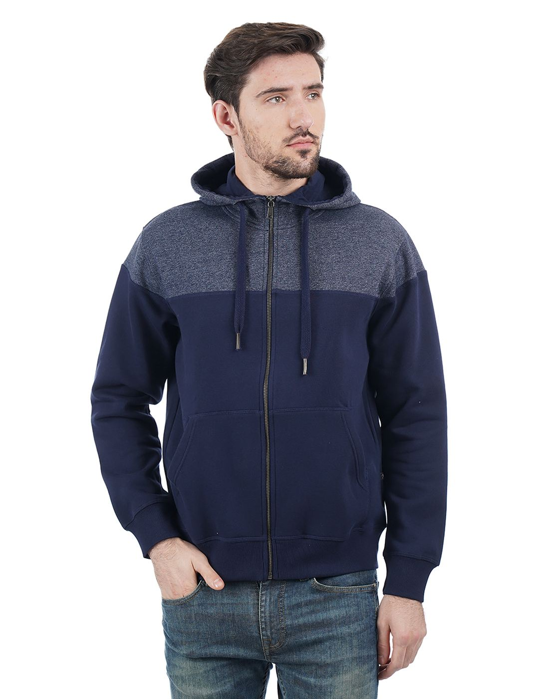 Indian Terrain Men Navy Sweatshirt
