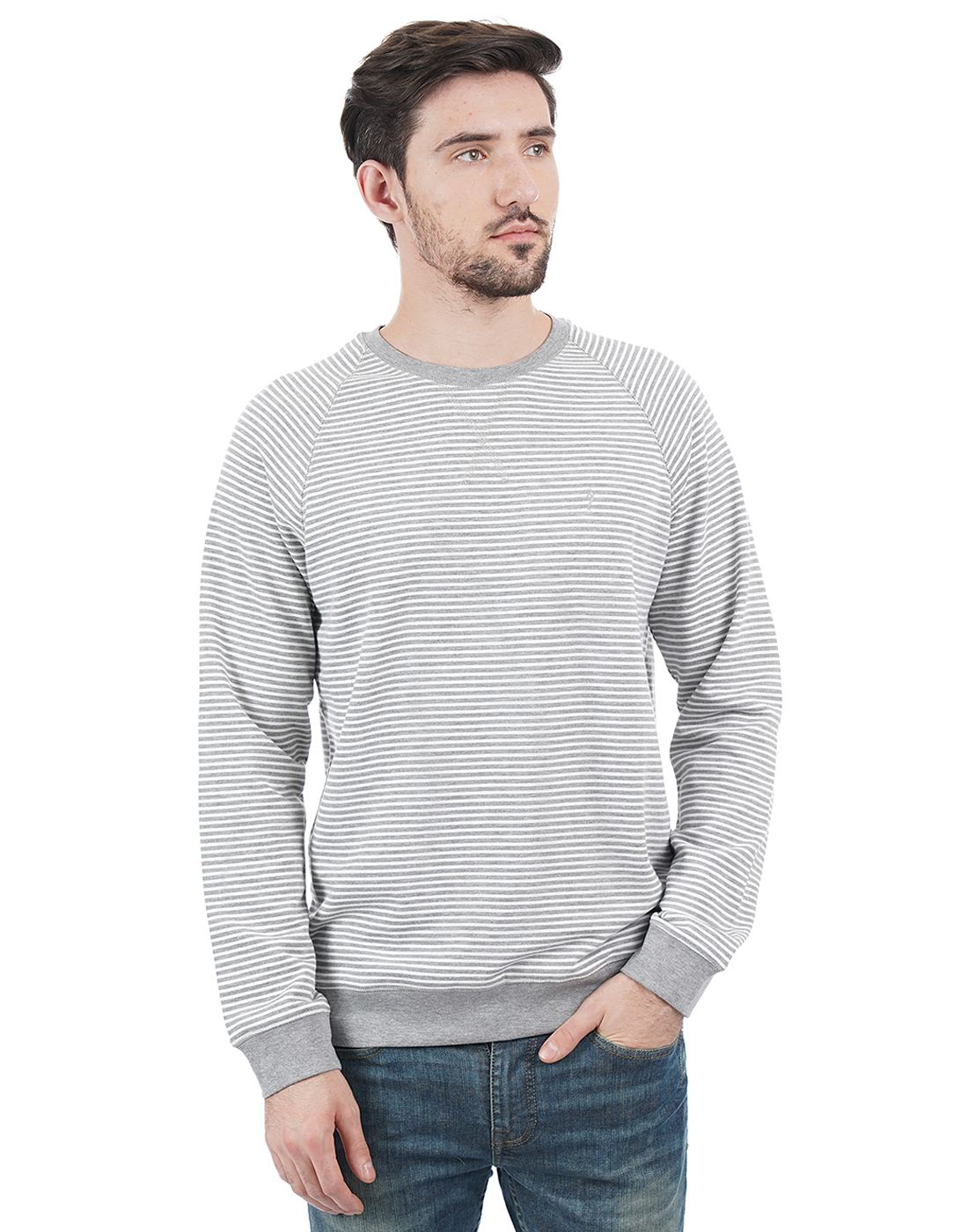 Indian Terrain Men Grey Sweater