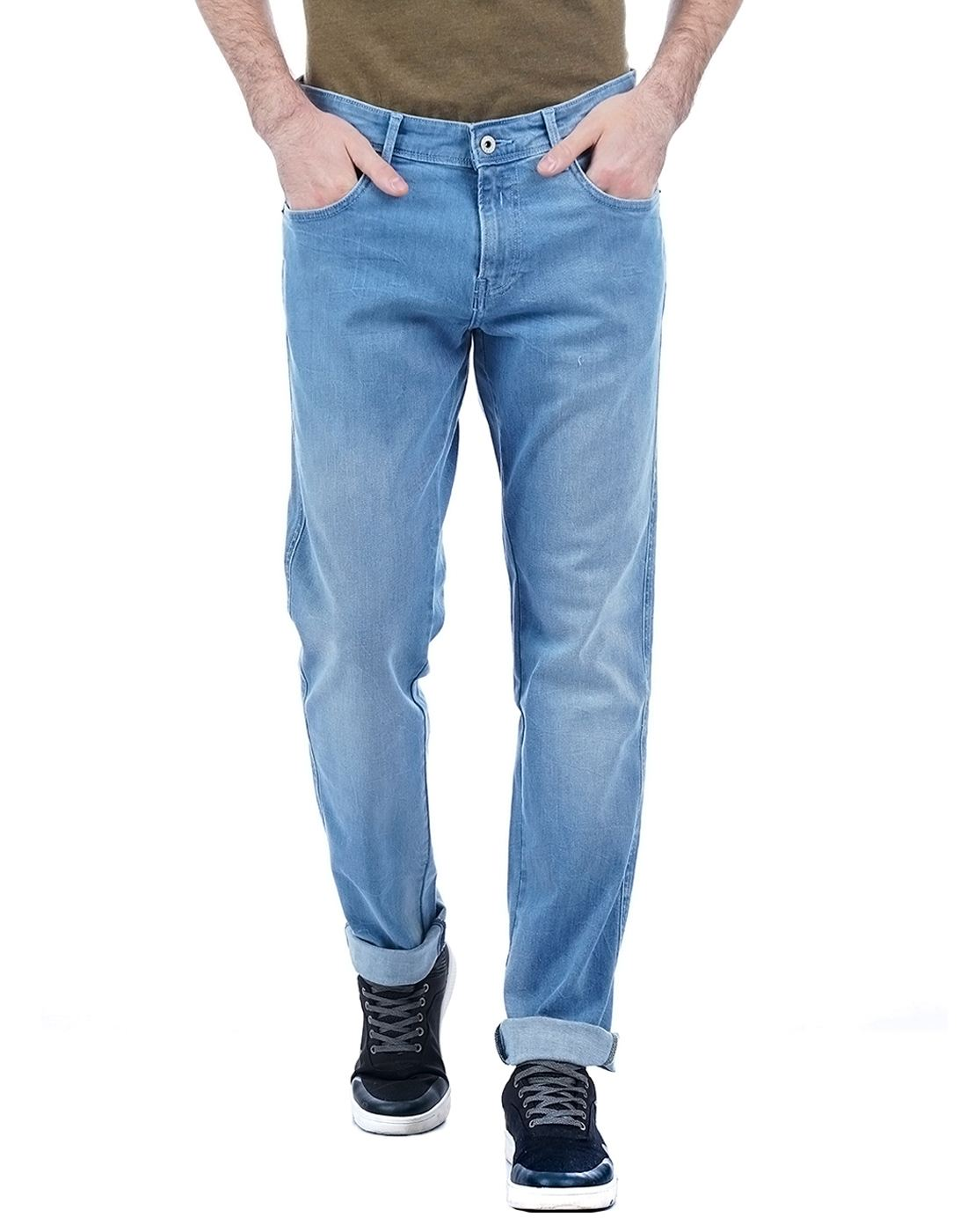 Indian Terrain Men Solid Casual Wear Jeans