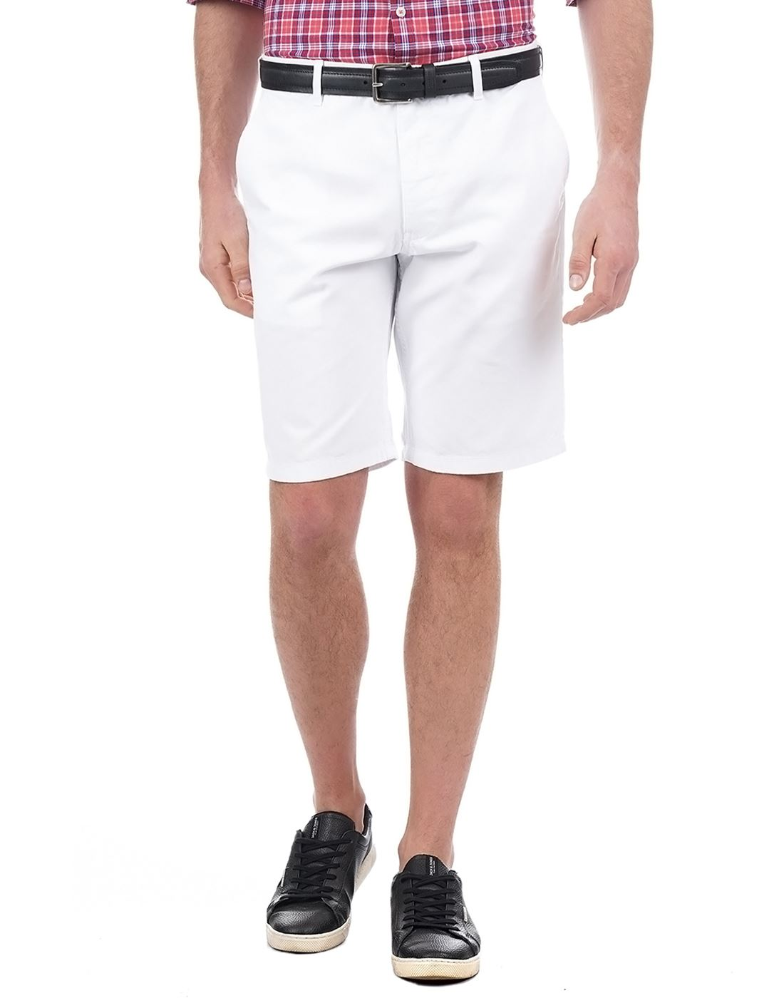 Indian Terrain Men Casual Wear Solid Shorts