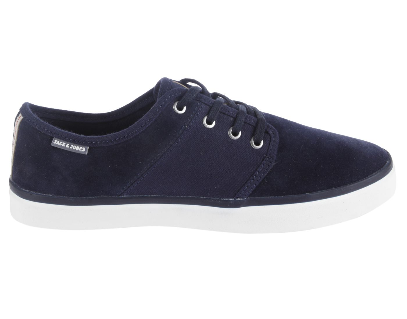 Jack & Jones Navy Blazer Leather (TPR Sole) Lace-up Sneakers