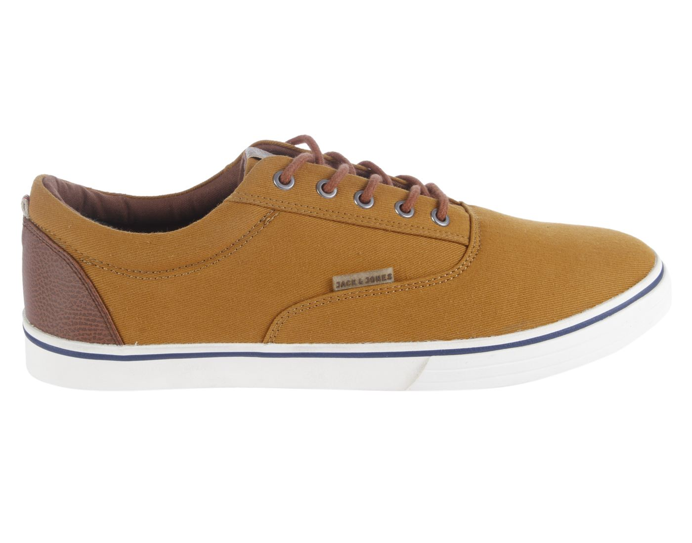 Jack & Jones Honey Mustard Leather  (Rubber Sole) Lace-up Sneakers