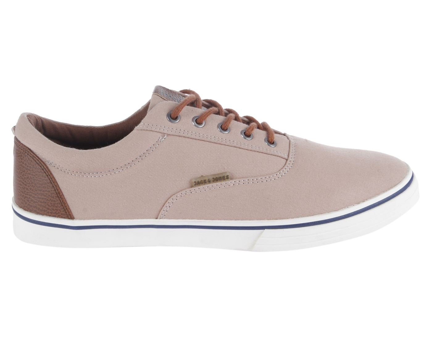Jack & Jones Dusty Pink Leather  (Rubber Sole) Lace-up Sneakers