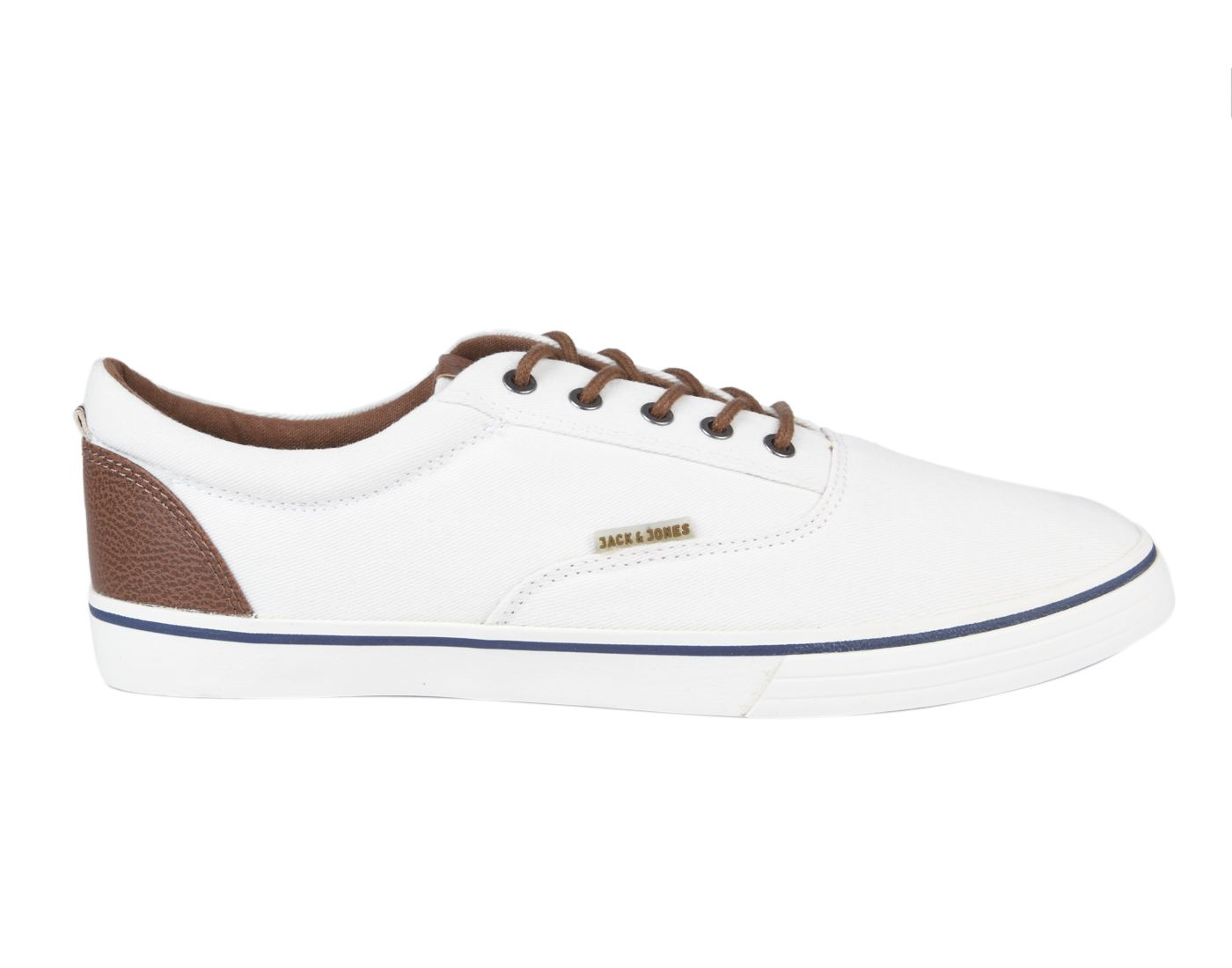 Jack & Jones Bright White Leather  (Rubber Sole) Lace-up Sneakers