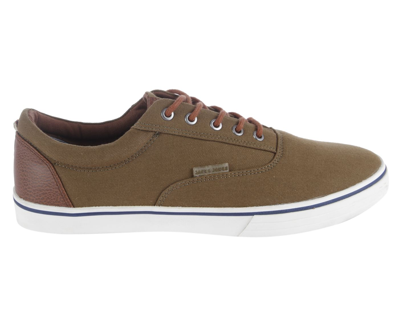Jack & Jones Dusty Olive Leather  (Rubber Sole) Lace-up Sneakers