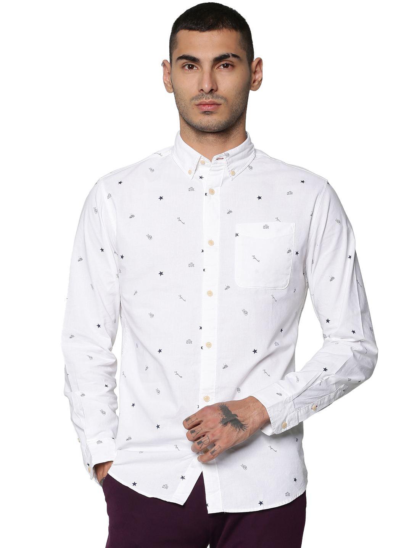 Jack & Jones Men Casual White Shirts