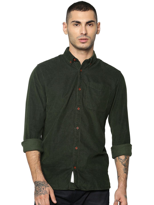 Jack & Jones Men Casual Green Shirts
