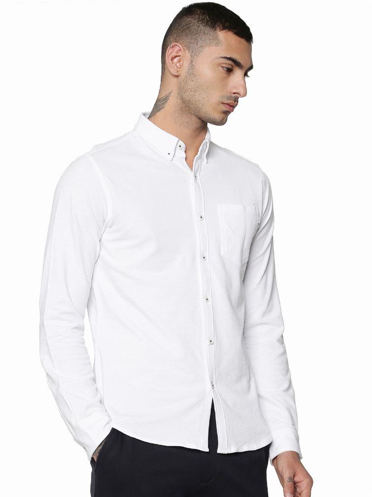 Jack & Jones Men Casual White Shirt