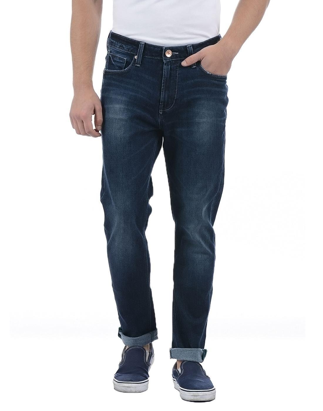 United Colors of Benetton Men's Blue Light Fade Jeans