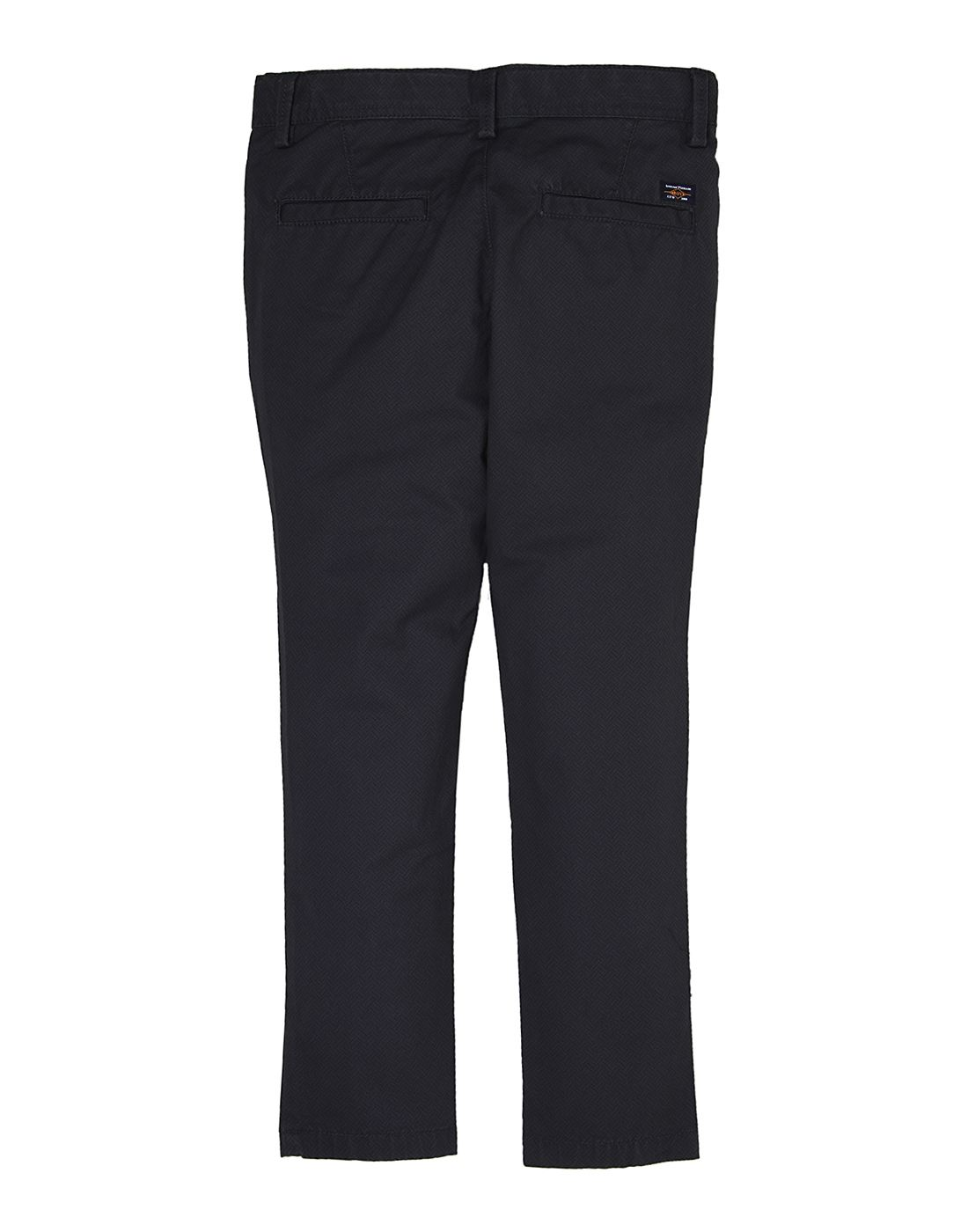 Indian Terrain Boys Blue Self Trouser