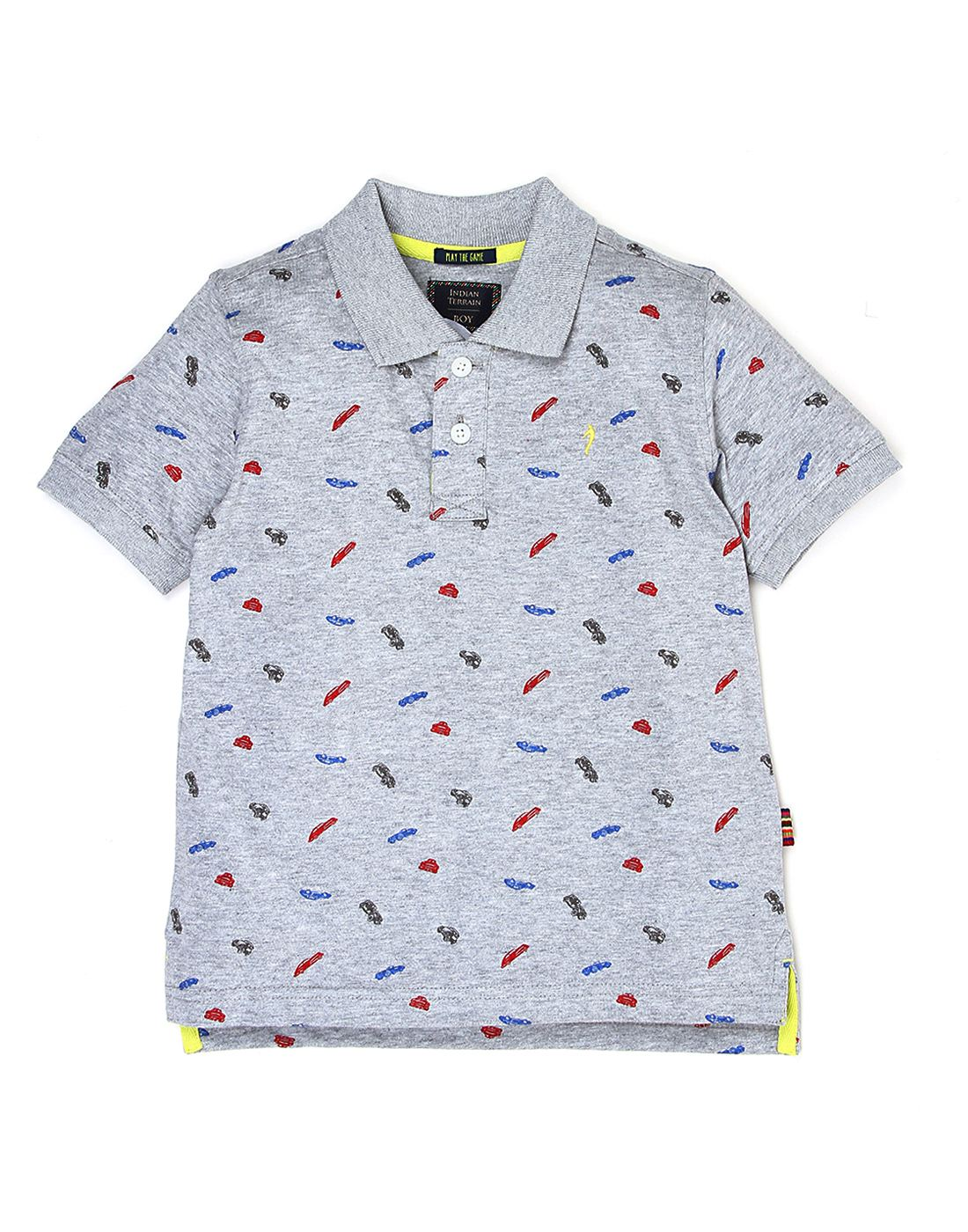 Indian Terrain Boys Grey Printed T-Shirt