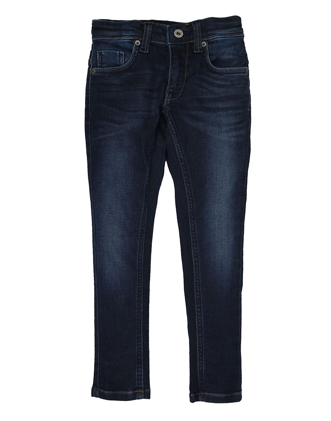 Indian Terrain Boys Blue Solid Jeans