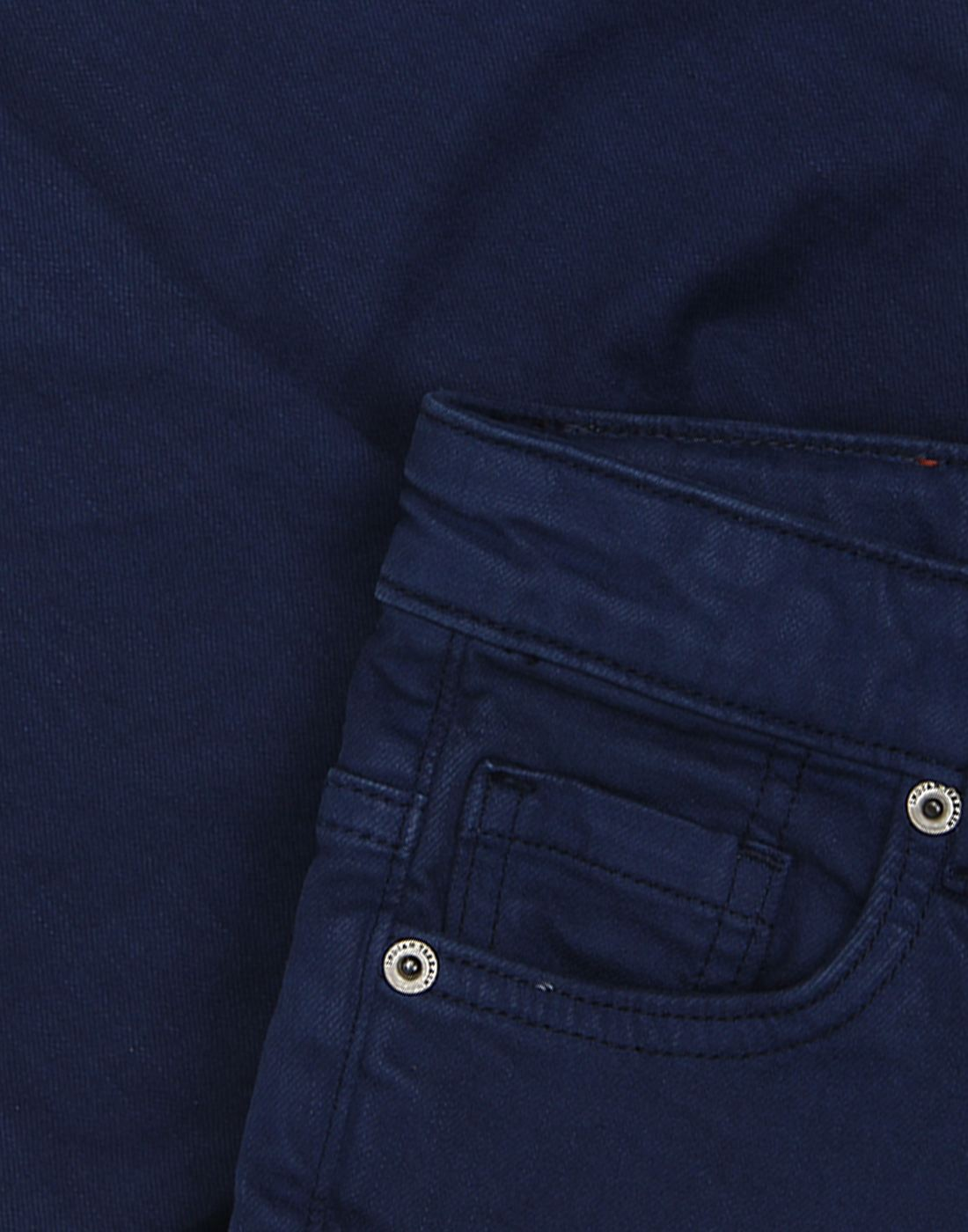Indian Terrain Boys Blue Solid Trouser