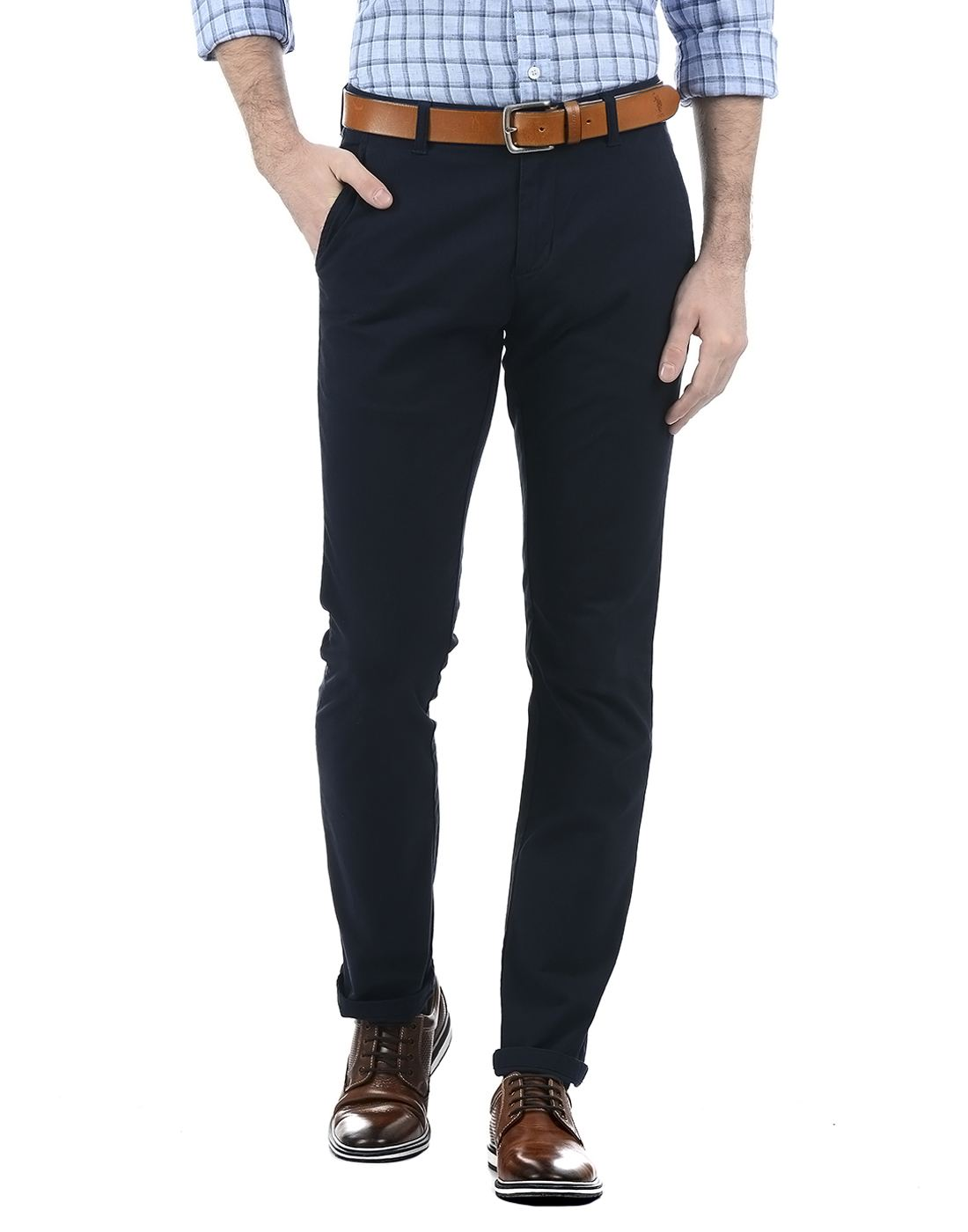 London Fog Men Navy Trouser