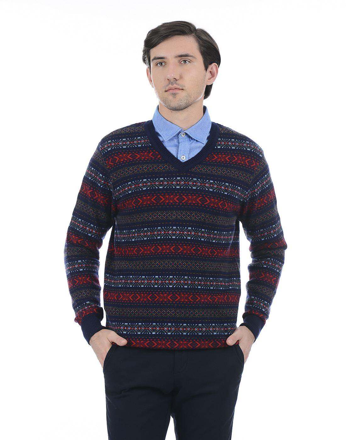 London Fog Men Multicolor Sweater
