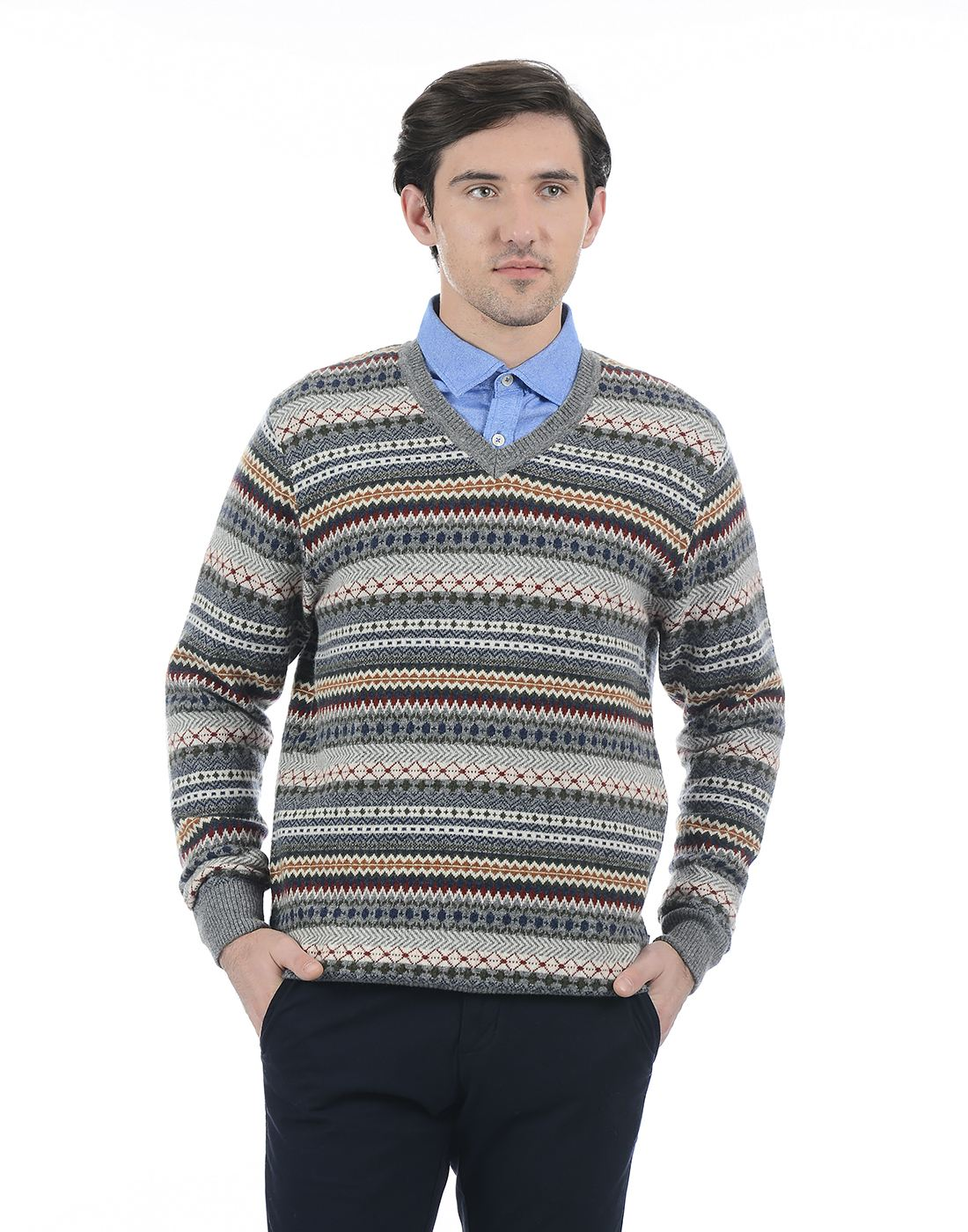 London Fog Men Grey Sweater