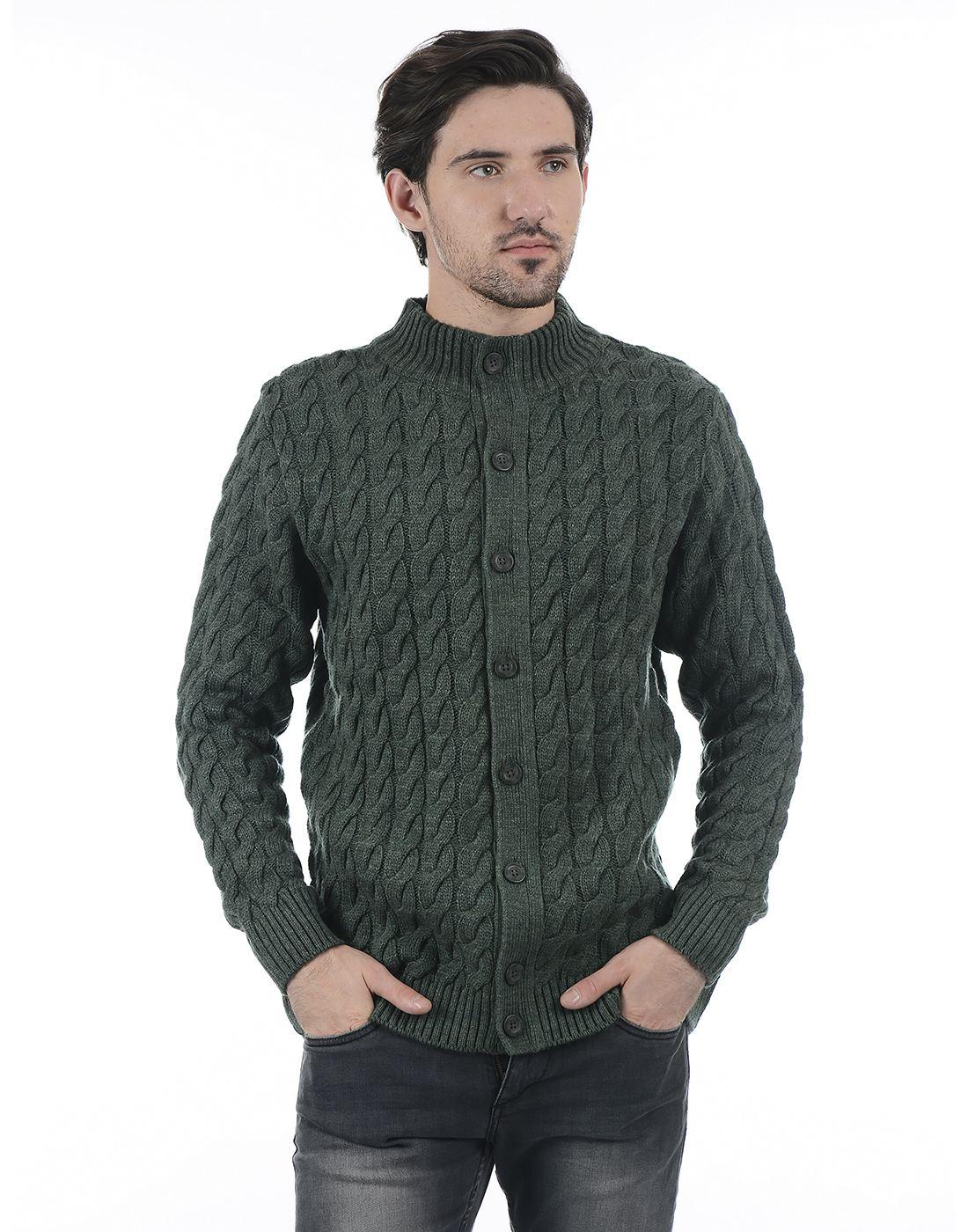 London Fog Men Green Sweater